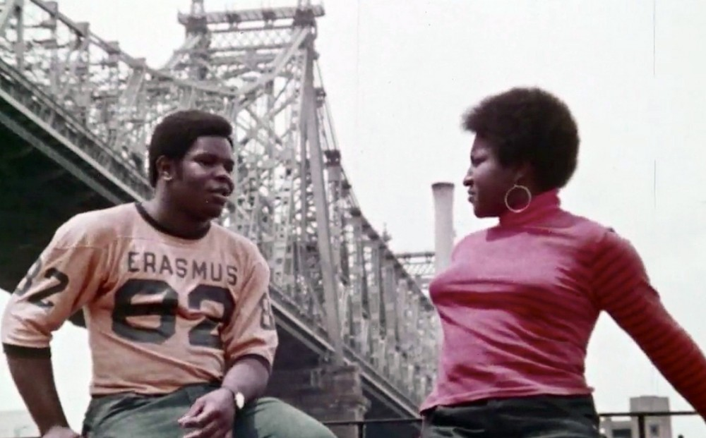 From MORRIS (1971): two people stand below the 59th Street bridge.