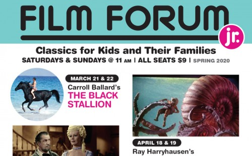 NEW! Spring 2020 Film Forum JR. Schedule