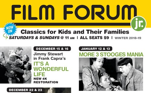 Winter 2018-2019 FILM FORUM JR. Season Announced