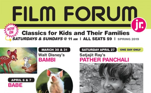 Spring 2019 FILM FORUM JR. Season Announced