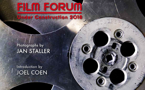 FILM FORUM UNDER CONSTRUCTION 2018: Book of Jan Staller Photographs