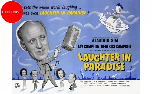 Alastair Sim in <br>LAUGHTER IN PARADISE