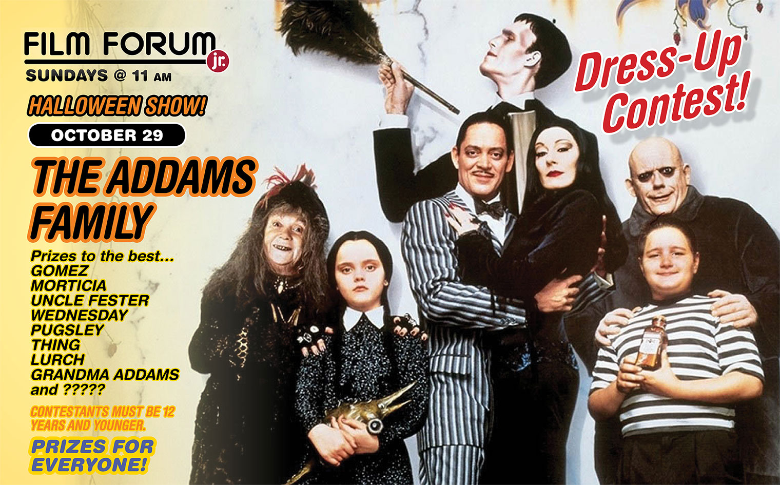 THE ADDAMS FAMILY Dress-Up contest