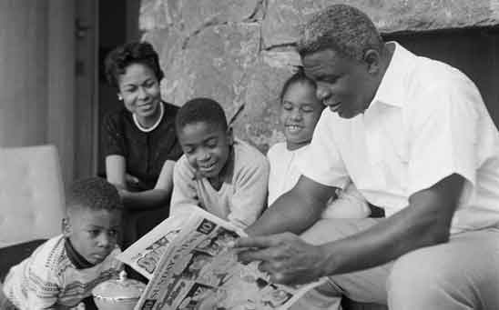 Jackie Robinson at home