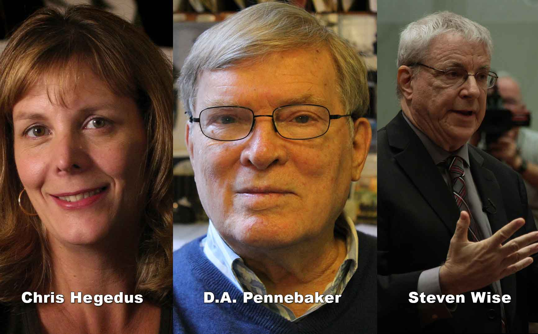UNLOCKING THE CAGE Filmmakers Chris Hegedus & D.A. Pennebaker with Subject Steven Wise