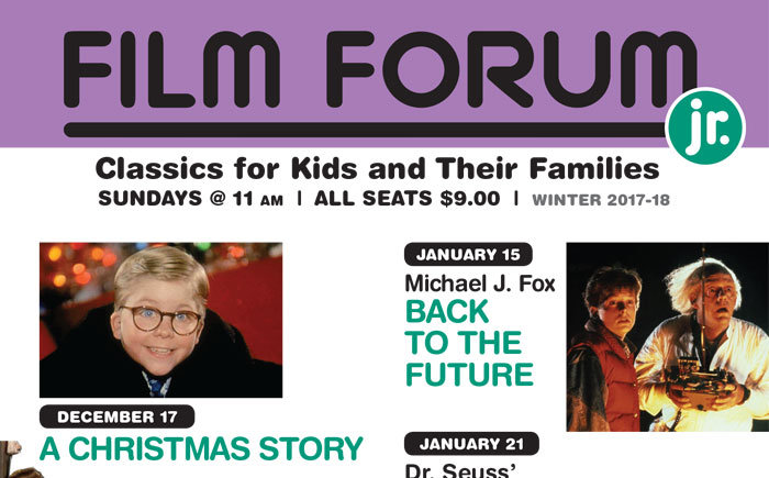 FILM FORUM JR. Winter 2017/2018 Calendar Announced