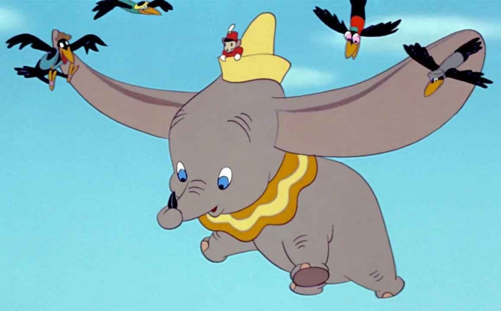 This is an image of Modest Dumbo the Elephant Images