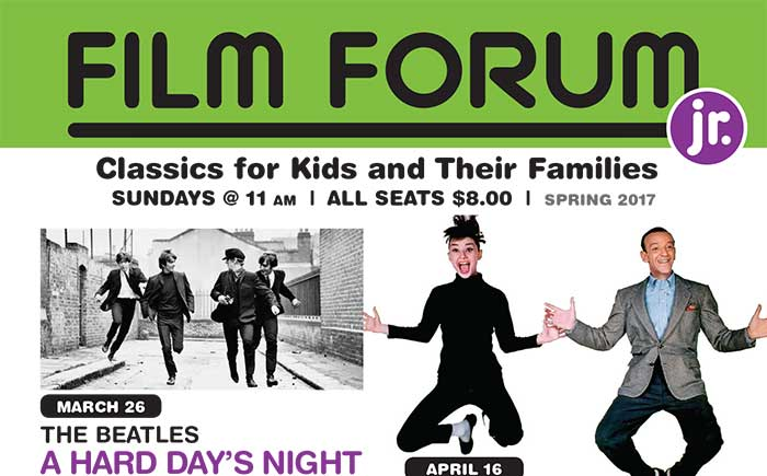 New FILM FORUM Jr. Schedule Announced!