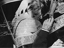 Bruce Weber poster art.
