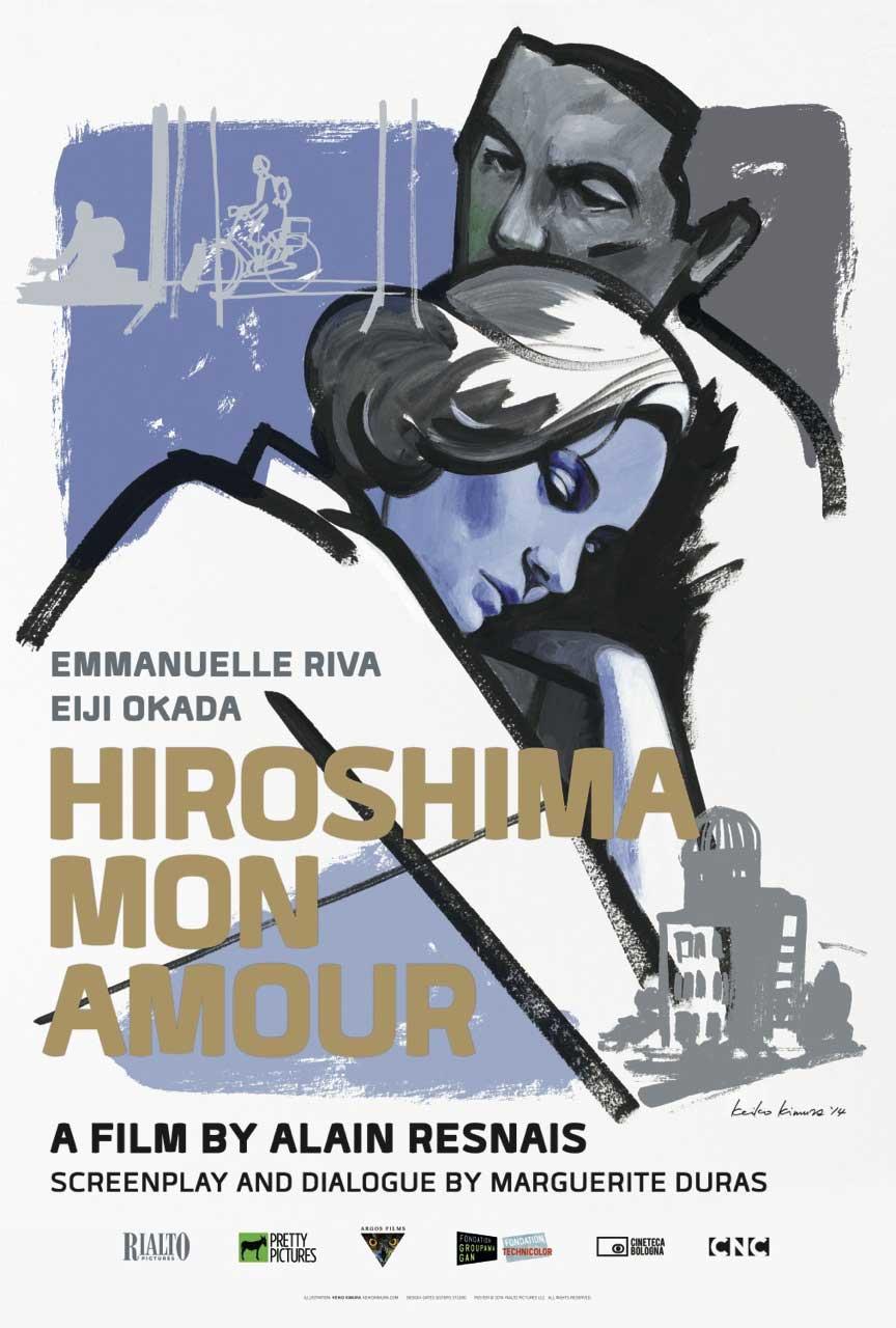 HIROSHIMA MON AMOUR Filmn Poster by Keiko Kimura