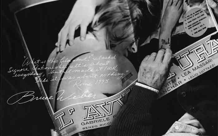 L'AVVENTURA film poster signed by Bruce Weber